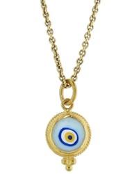 ara Collection Small Light Blue Evil Eye Pendant