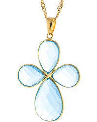 jcpenney Fine Jewelry Athra Blue Glass Cross Pendant Necklace