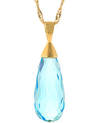 jcpenney Fine Jewelry Athra Blue Glass Teardrop Pendant Necklace