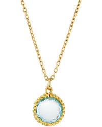 Roberto Coin Ipanema Small Round Blue Topaz Pendant Necklace