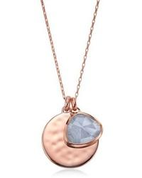 Monica Vinader Siren Semiprecious Stone Charm Pendant Necklace