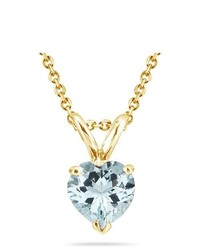 MySolitaire 089 Cts Sky Blue Topaz Pendant In 14k Yellow Gold