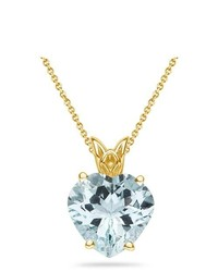 MySolitaire 401 Cts Sky Blue Topaz Pendant In 14k Yellow Gold