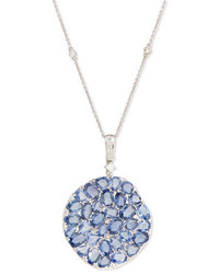 Rina Limor Fine Jewelry Rina Limor Signature Slice Cut Sapphire Diamond Pendant Necklace