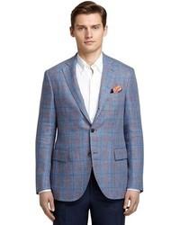Blue and red plaid sport coat medium 34555