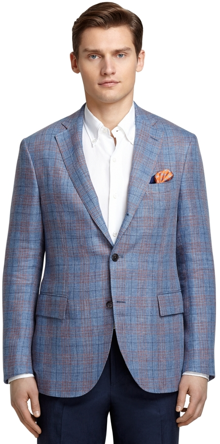 Brooks Brothers Blue And Red Plaid Sport Coat | Where to buy & how ...