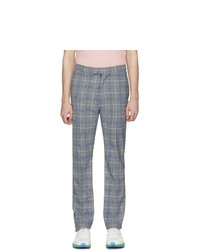 Light Blue Plaid Chinos