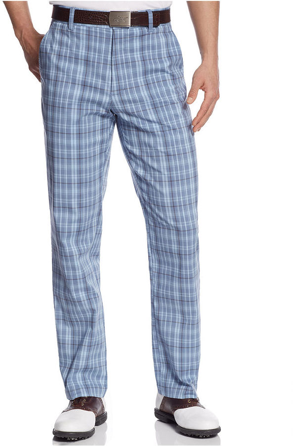 Greg Norman For Tasso Elba Tonal Plaid Golf Pants | Where to buy ...