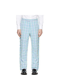 Thom Browne Multicolor Tweed Frayed Trousers