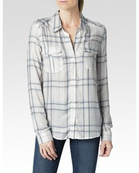 Mya shirt whitedusky bluerose tan plaid medium 347515