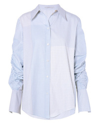 Stella McCartney Ruched Oversized Cotton Poplin Shirt