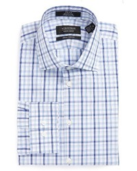 Shop extra trim fit non iron plaid dress shirt medium 1150282