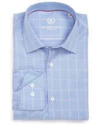 Trim fit plaid dress shirt medium 844078