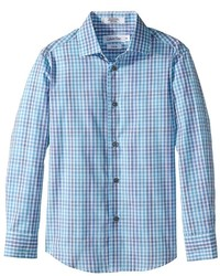 Calvin Klein Kids Flight Plaid Long Sleeve Shirt