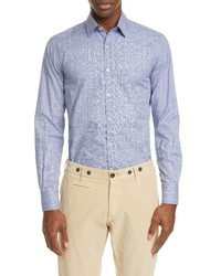 Canali Classic Fit Plaid Button Up Shirt