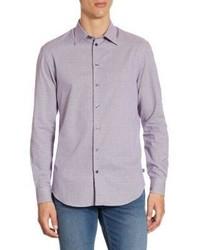 Armani Collezioni Mini Plaid Cotton Casual Button Down Shirt