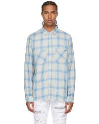 Amiri Multicolor Check Distressed Shirt