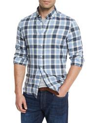 Plaid leisure fit sport shirt blue medium 655127