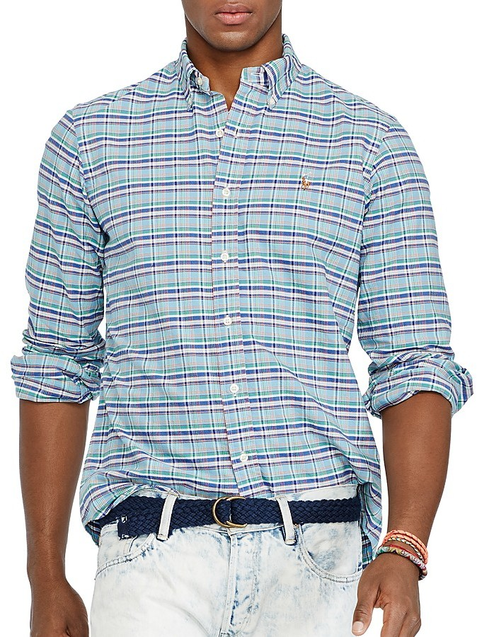 94953029 Polo Ralph Lauren Plaid Oxford Shirt Slim Fit, $89 | Bloomingdale's ...