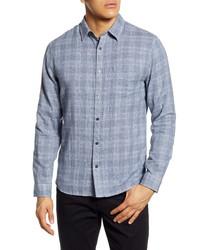 Vince Slim Fit Double Face Plaid Button Up Shirt