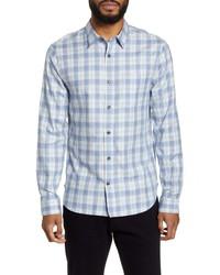Vince Slim Fit Plaid Flannel Button Up Shirt