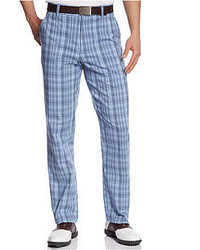 Light Blue Plaid Pants for Men | Men's Fashion