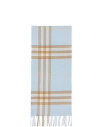 Burberry Blue And Beige Giant Check Scarf