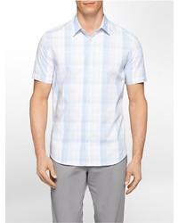 Calvin Klein Classic Fit Medium Plaid Multi Check Short Sleeve Shirt
