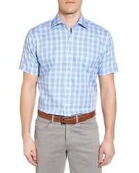 Crown ease sloan regular fit plaid sport shirt medium 8576720