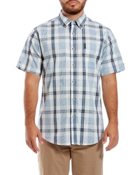 Ben Sherman Dogtooth Check Short Sleeve Sport Shirt