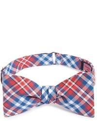 Vineyard Vines Gilberts Pond Plaid Woven Silk Bow Tie