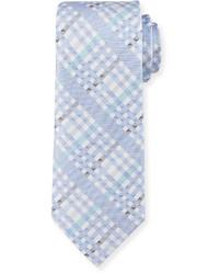 Robert Graham Angy Plaid Silk Tie Blue