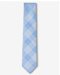 Express Narrow Plaid Silk Blend Tie