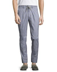 Robert Graham R By Drawstring Glen Plaid Pants Blue