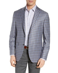 David Donahue Ashton Classic Fit Check Wool Sport Coat