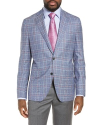 David Donahue Ashton Classic Fit Plaid Wool Sport Coat