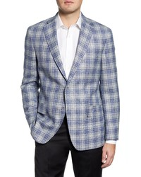 Hart Schaffner Marx Classic Fit Plaid Wool Blend Sport Coat