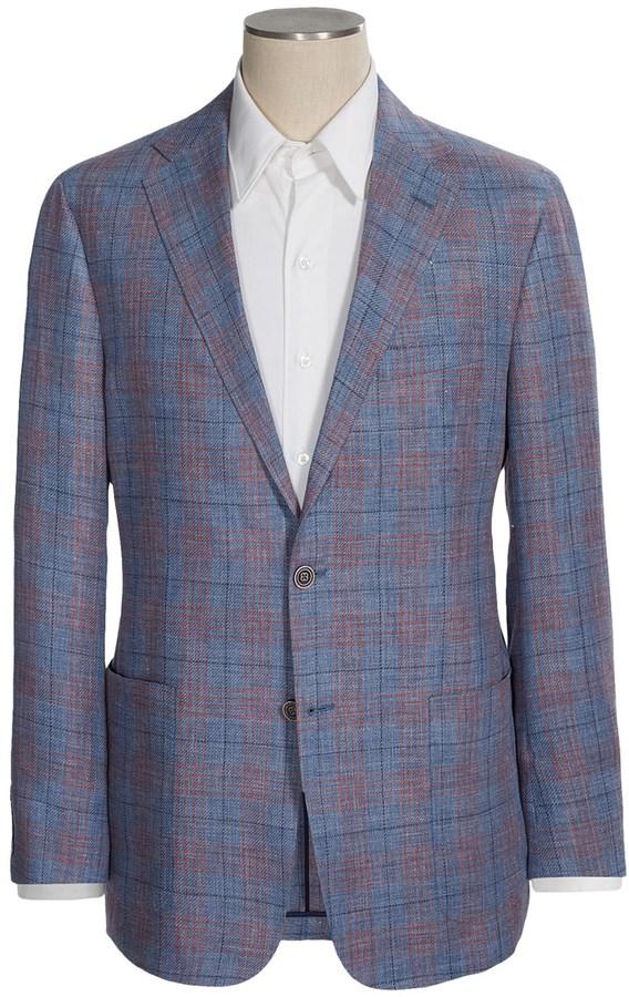 ef642a69b6 $549, Hickey Freeman Glen Plaid Sport Coat Linen Wool