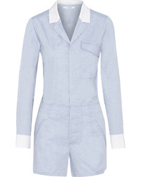 Derek Lam 10 Crosby Two Tone Cotton Playsuit