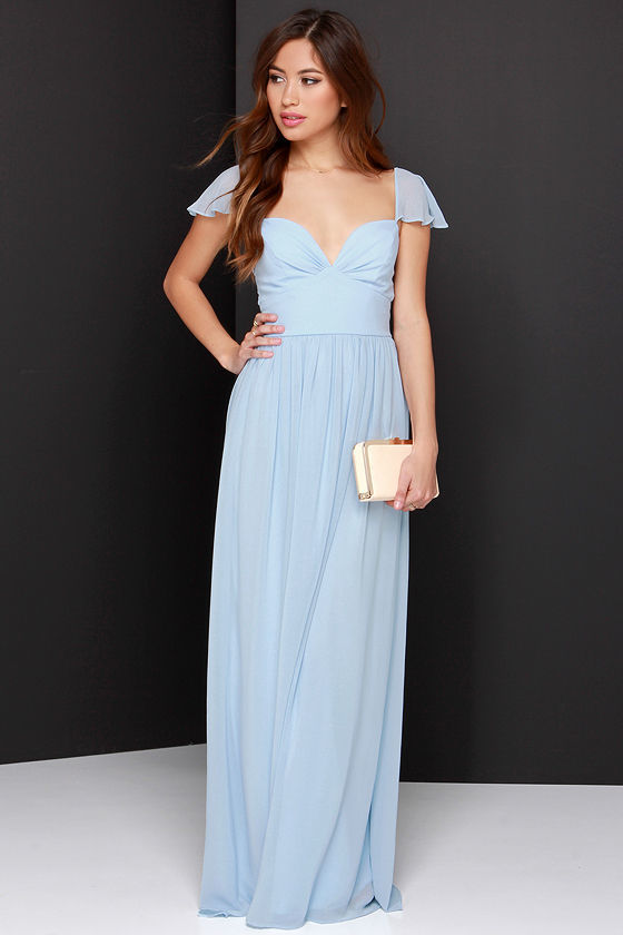 Blue maxi party dress