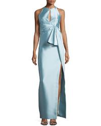 Lupita Nyong'o wearing Light Blue Pleated Evening Dress ...