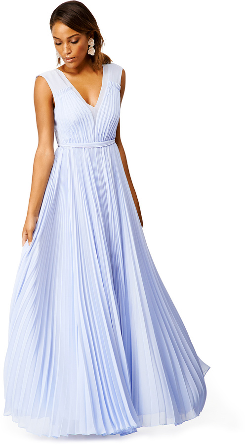Rebecca Taylor Periwinkle Pleats Gown | Where to buy & how to wear