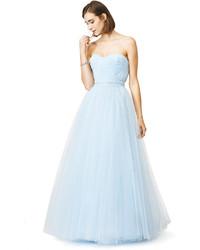 Reem acra blue bennett gown medium 158475