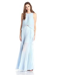 Bcbgmaxazria Shaina Sleeveless Pleated Gown