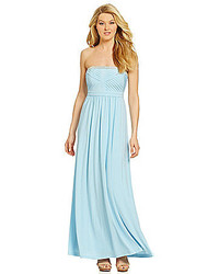 Strapless beaded pleated a line gown medium 280419