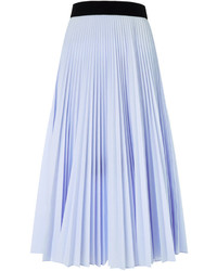 Light Blue Pleated Midi Skirt