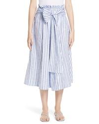 Rosetta Getty Stripe Poplin Skirt