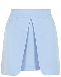 Dorothy perkins blue central pleat mini skirt medium 51625