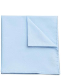 Charles Tyrwhitt Sky Cotton Plain Classic Pocket Square