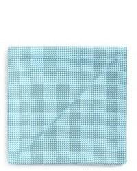 Armani Collezioni Micro Houndstooth Fleece Wool Pocket Square